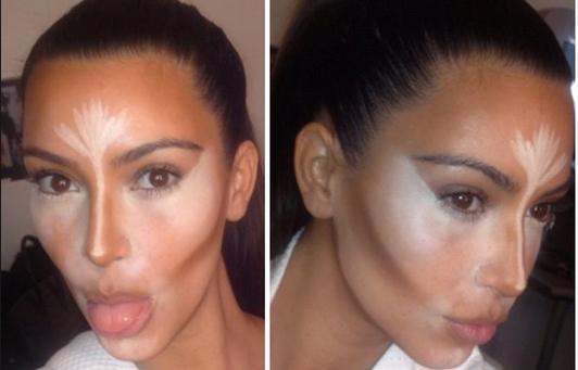 """Kim Kardashian, regina del contouring, si mostra durante il """"processo creativo"""""""