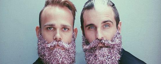 barbe glitter