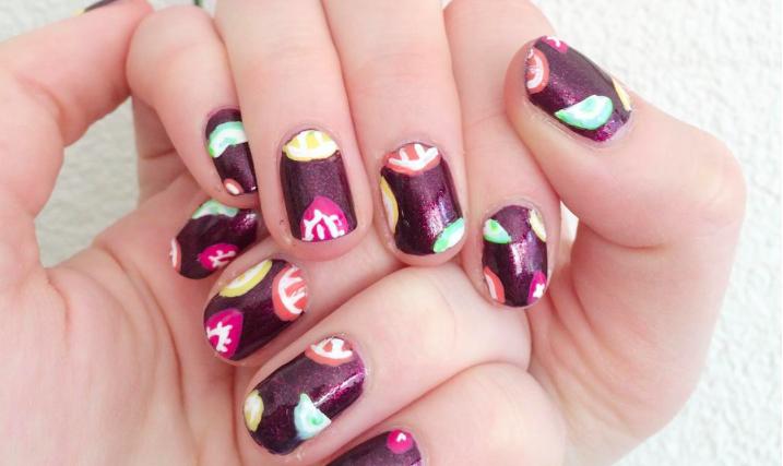 Nail Art Sangria