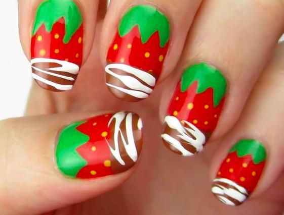 Nail Art fragole